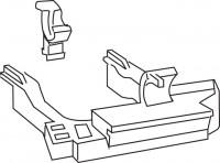 Mepa Lagerbock für 6-9 l Spül-, kasten SC A11/A12, 590804
