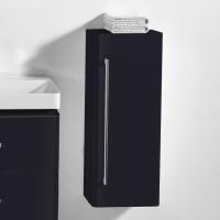 Neuesbad 4000 Seitenschrank 33 x 22 x 76 cm , Farbe schwarz hochglanz, Anschlag rechts