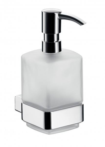 Emco loft Seifenspender, Glas satiniert, Kunststoffpumpe, chrom, 052100101
