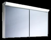Schneider Spiegelschrank Slideline 130/2/FL, 1x54W+1x28W 1300x750x130 alueloxiert, 119.130.02.50