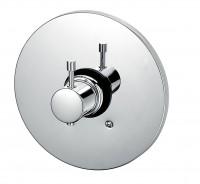 KAJA-Ipuri Thermostat-Fertigmont.-Satz f. Einbaukörper ohne Absperrung, velourschrom