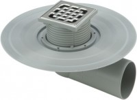 Viega Balkon-/Terrassenablauf 4943.2 in DN50 Kunststoff grau