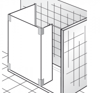 HSK Walk In K2 P 1 Glaselement + Seitenteil + Seitenwand