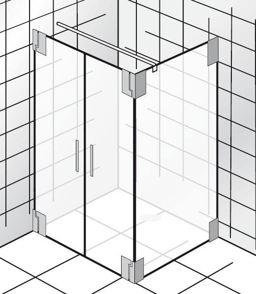 HSK K2.24 Pendeltür und Seitenwand K2.24 bis max. 1000 mm ja nein bis max. 1000 mm nein nein Echtglas klar hell bis max. 2000 mm Stangengriff K2 groß (390 mm)