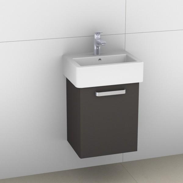Artiqua 411 Waschtischunterschrank für Vero 070445, Stahlgrau, 411-WUT-D22-R-7142-88