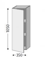 Sanipa Cubes mit Tür CU12214, Pinie-Grau