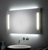 KOH-I-NOOR PL Spiegel mit Raumbeleuchtung und Spiegelbeleuchtung, B: 120 cm, H: 80 cm