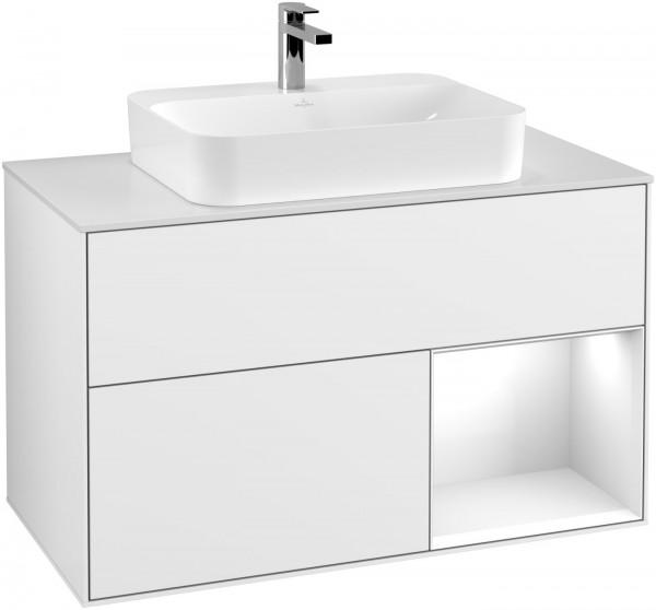 Villeroy & Boch Waschtischunterschrank Finion F37 1000x603x501mm WT mittig, F371GFGF