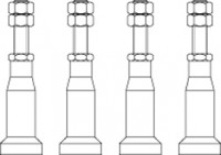 Bette Zubehör Füße B50-0011, 10-13 cm für DW>= 120 cm, B50-0011