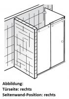 HSK Atelier Pur AP.31 Gleittür 2-teilig mit Seitenwand