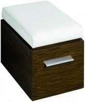 Keramag Hocker Silk 816071 380x450/490x560mm, Wenge Pangar Echtholzfurnier, Y816071000