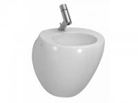 Laufen Handwaschbecken Il Bagno Alessi One 420x465, 1 Hahnloch mittig,weiß mit LCC, 8159704001041