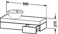 Duravit Konsole mit Schubkasten Fogo T:360, B:900, H:215mm, FO83700