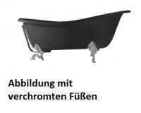 Axa One Contea klassische freistehende Badewanne, 1700 x 770 mm, schwarz