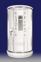 Neuesbad Design Dampfdusche Halbrund 990 x 990 x 2150 mm, weiss