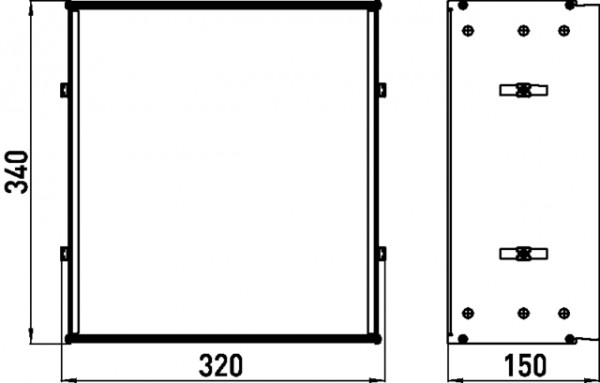 Emco asis Einbaurahmen (300) für, Unterputz-Module mit 344mm Höhe, 978100021