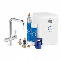 Grohe Blue Starter Kit 31324 für BWT-Filter U-Auslauf chrom, 31324001