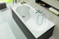 Villeroy & Boch Badewannenverkleidung United, Eckversion, UCXX, Farbe: Oak Graphite