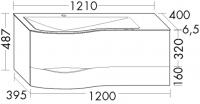 Burgbad Mineralguss-Waschtisch und Waschtischunterschrank Sinea 2.0 Weiß Matt/Alpinweiss, SFFQ121LF2