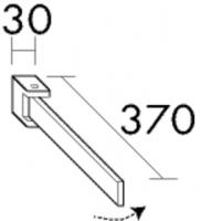 Burgbad Handtuchhalter Chrom 46x30x370 Chrom, HHAF003B0001