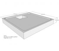 Neuesbad Wannenträger für Bette superflach 100x100x3,5