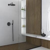 Steinberg Brausearm - Wandmontage 450mm, verstärkte Wandhalterung schwarz, 100 7910 S