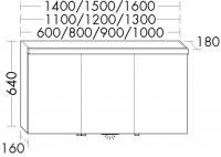 Burgbad Spiegelschrank Sinea HGL 640x1200x180 Weiß Hochglanz, SPLB120RF1767