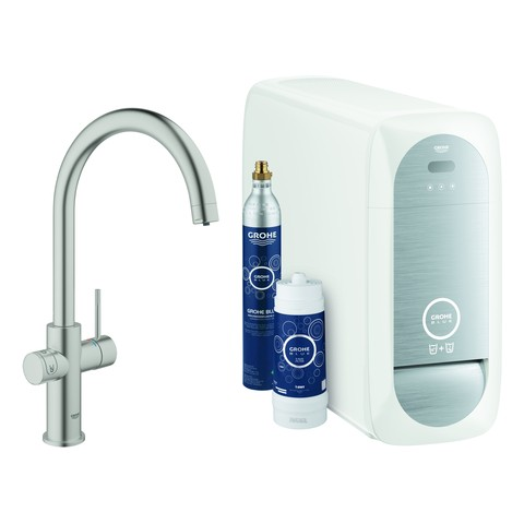 Grohe Blue Home Starter Kit 31455 Bluetooth/WIFI C-Ausl. supersteel, 31455DC1