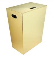 Koh-I-Noor ECOPELLE Wäschekorb, mit Innensack 43x48x26, gold, 2262BG