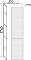 Burgbad Hochschrank Yumo 1760x500x320 Weiß Hochglanz, HSKF050LF3193