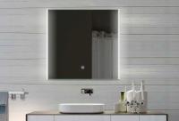 Neuesbad LED Lichtspiegel, Touch Schalter, Lichtfarbe einstellbar, B:600, H:620 mm