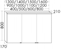 Burgbad Spiegelschrank Sys30 PG1 800x1500x210 Sys30 PG1, SPLD150L320