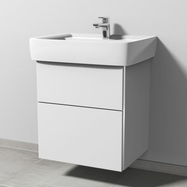 Sanipa 3way Waschtischunterschrank mit Auszügen BR69043, Weiss-Soft
