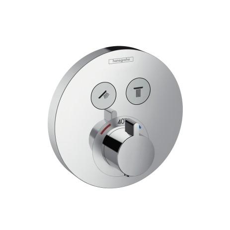 Hansgrohe ShowerSelect Mischer S Thermostat Unterputz, 15743000, für 2 Verbraucher , 15743000