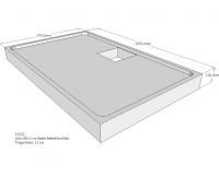 Neuesbad Wannenträger für Bette Floor Side 1600x1000