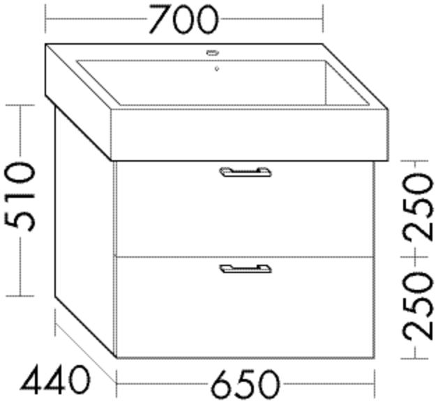 Image of Burgbad Waschtischunterschrank Sys30 PG3 510x650x440 Weiß Hochglanz, WUJH065F1507 WUJH065F1507