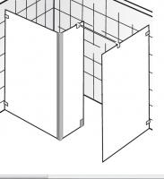 HSK Walk In Atelier Pur AP.72 1 Glaslement + 1 Seitenteil + freistehende Seitenwand