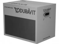 Duravit WWC-Set D-Code, rimless, Durafix, TS,weiß, inkl.WC-Sitz m.Absenkautomatik, 45700900A1