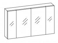 Artiqua COLLECTION 415 Spiegelschr.f.Doppelwasch.B:1200mm