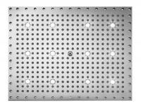 Bossini Dream Rectangular Kopfbrause 500 x 400 mm, mit 12 weissen LED`s