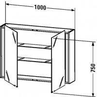 Duravit Spiegelschrank Ketho T:180, B:1000, H:750mm, KT75320