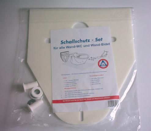 WC-Schallschutz-Set für Wand-WC und Wand-Bidet
