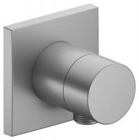 Keuco Absperrventil IXMO Pure 59541, eckig Schlauchanschluss, Aluminium-finish, 59541170102