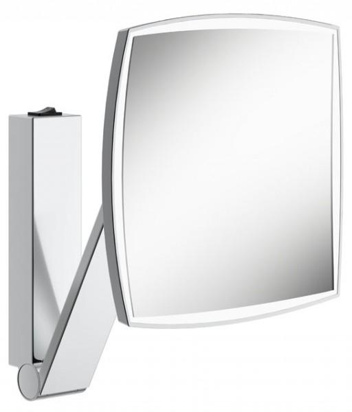 Keuco Kosmetikspiegel iLook_move eckig 17613 beleuchtet, Wippschalter, verchromt, 17613019004