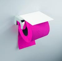 Neuesbad Papierhalter mit Deckel NIKA, weiss-chrom