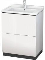 Duravit Waschtischunterschrank stehend L-Cube 469x670x864mm, 2 Auszüge, 030470, amerik. nussbaum, LC