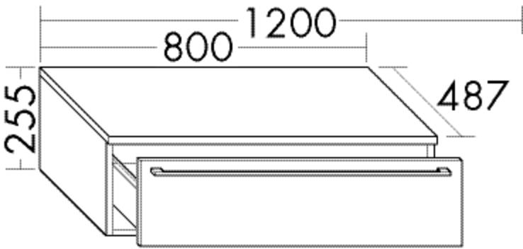 Image of Burgbad Sideboard Bell Matt 255x800x487 Sand Matt, USBF080F2090 USBF080F2090