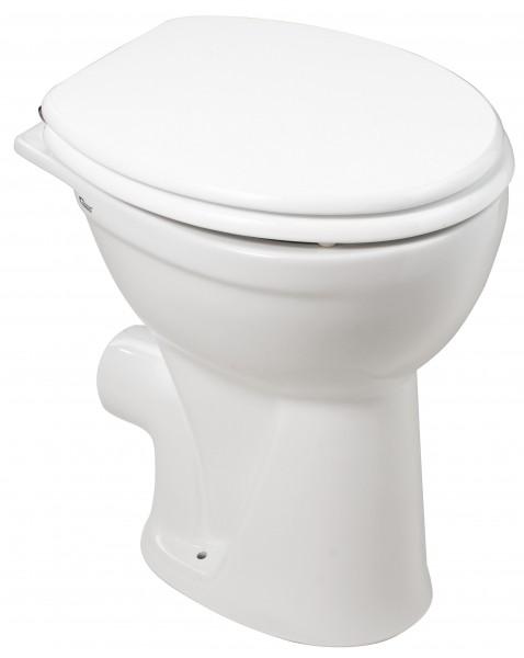 Neuesbad Stand-Tiefspül-WC, erhöht (10 cm), weiss, Abgang waagerecht