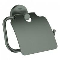 Grohe WC-Papierhalter Essentials 40367 mit Deckel hard graphite geb., 40367AL1