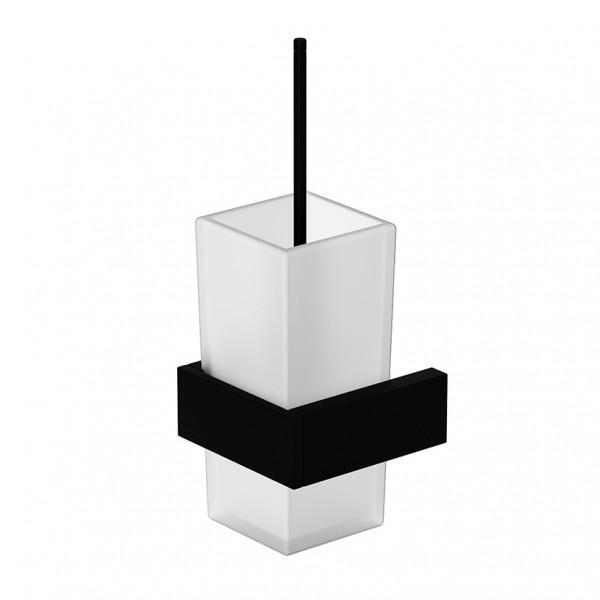 Steinberg Bürstengarnitur, schwarz matt mit Glas satiniert weiß, 4602903S, 460.2903S